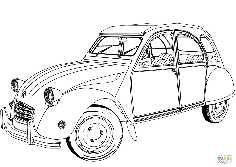 Citroen 2 Cv Coloring Page
