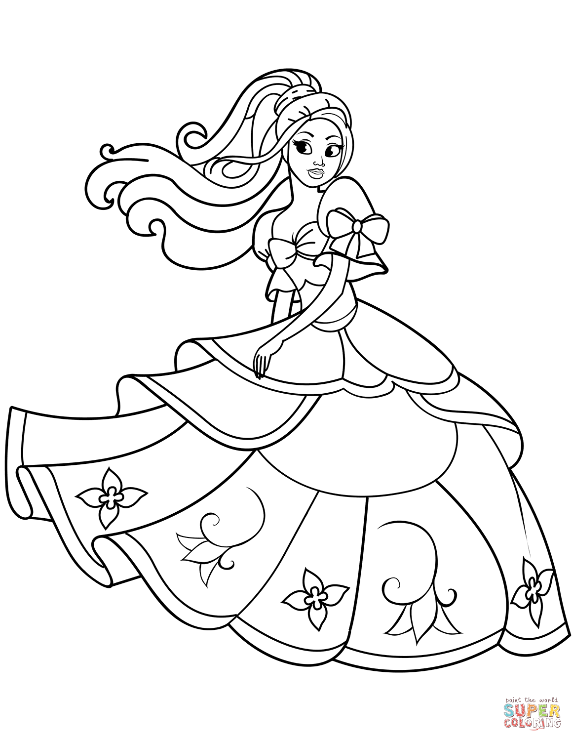 Dancing Princess coloring page | Free Printable Coloring Pages | free online coloring pages disney princesses