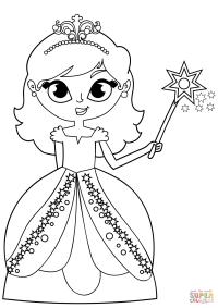 Dibujo de Princesa de hadas para colorear