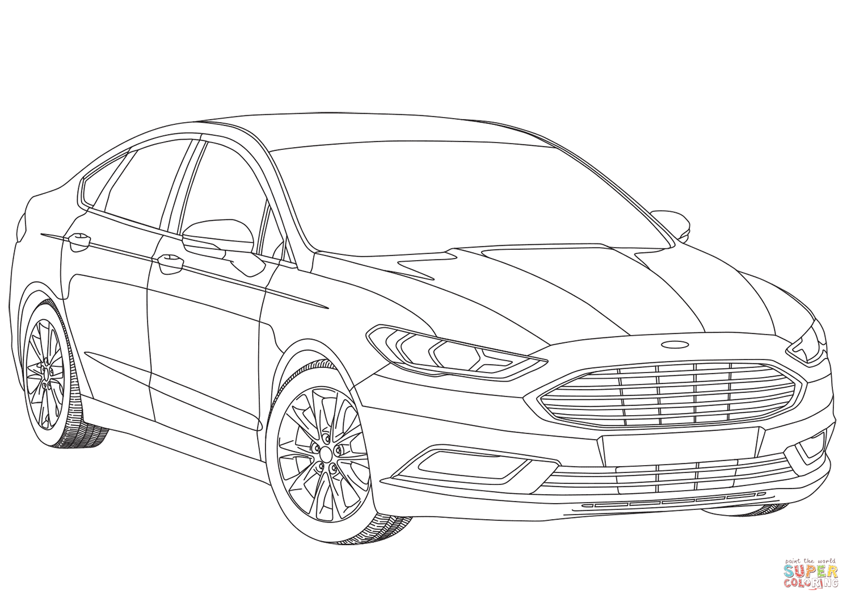 Auto Ausmalbilder Ford