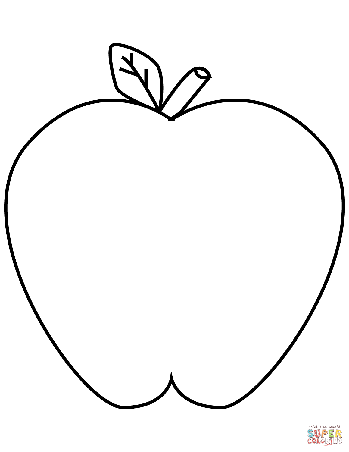 Green Apple Coloring Page