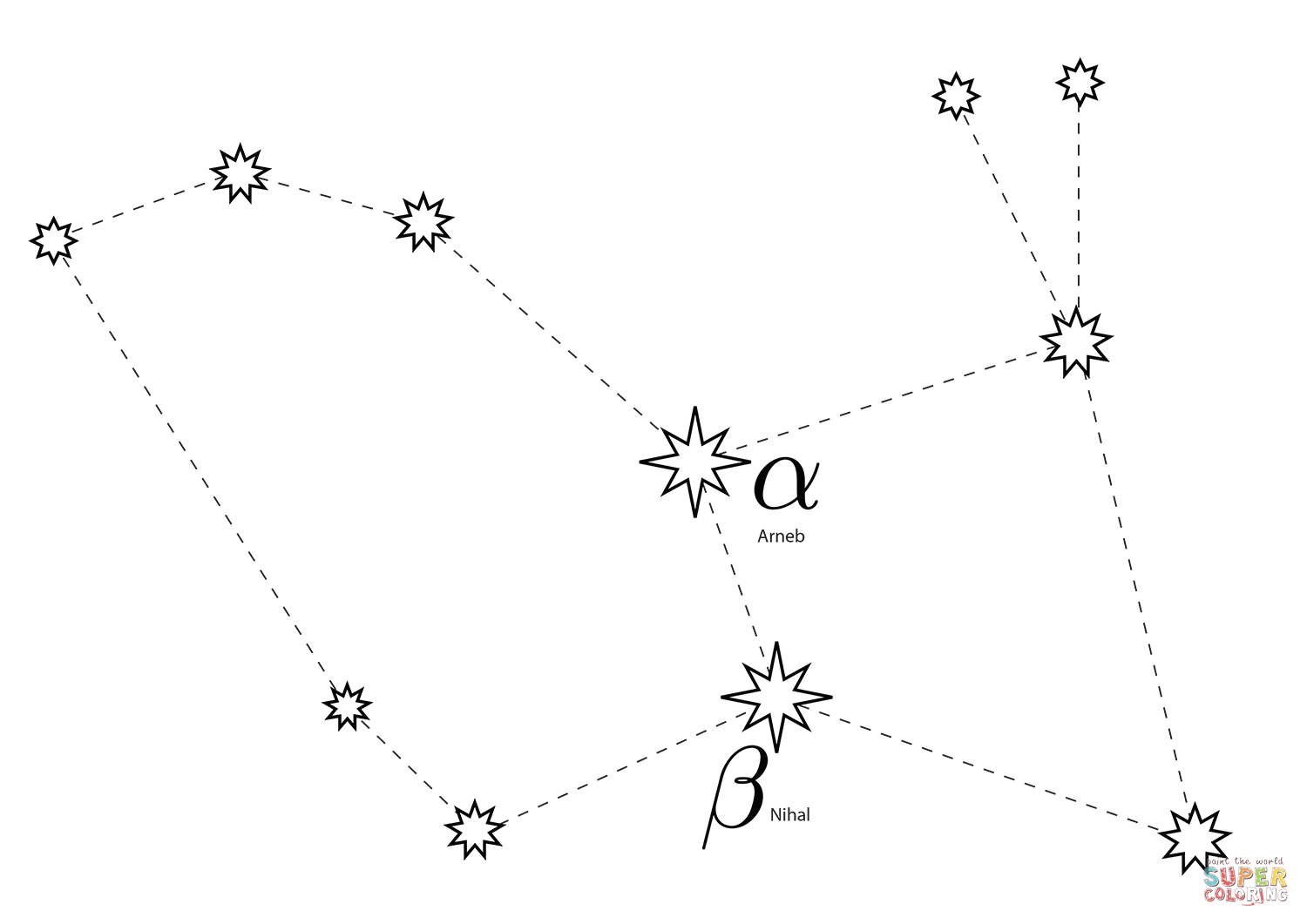 Lepus Constellation Coloring Page