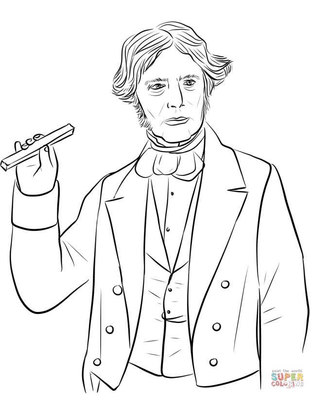 Michael Faraday coloring page  Free Printable Coloring Pages