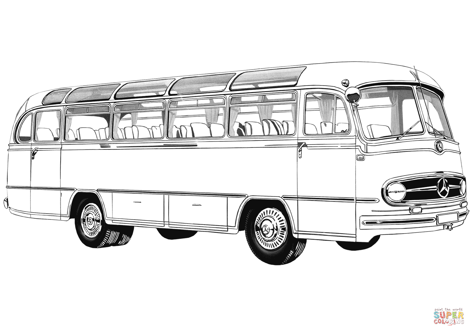 Oldtimer Mercedes Benz Bus Coloring Page