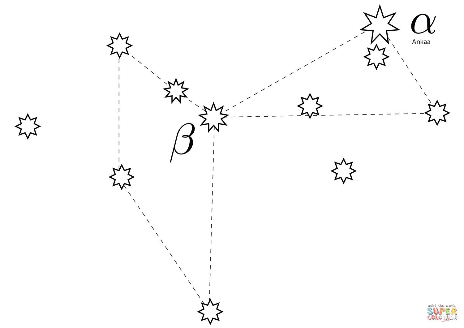 Constellation Pages Coloring Pages