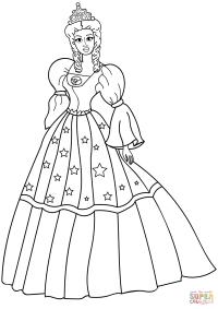 Disegno di Principessa da colorare | Disegni da colorare e ...