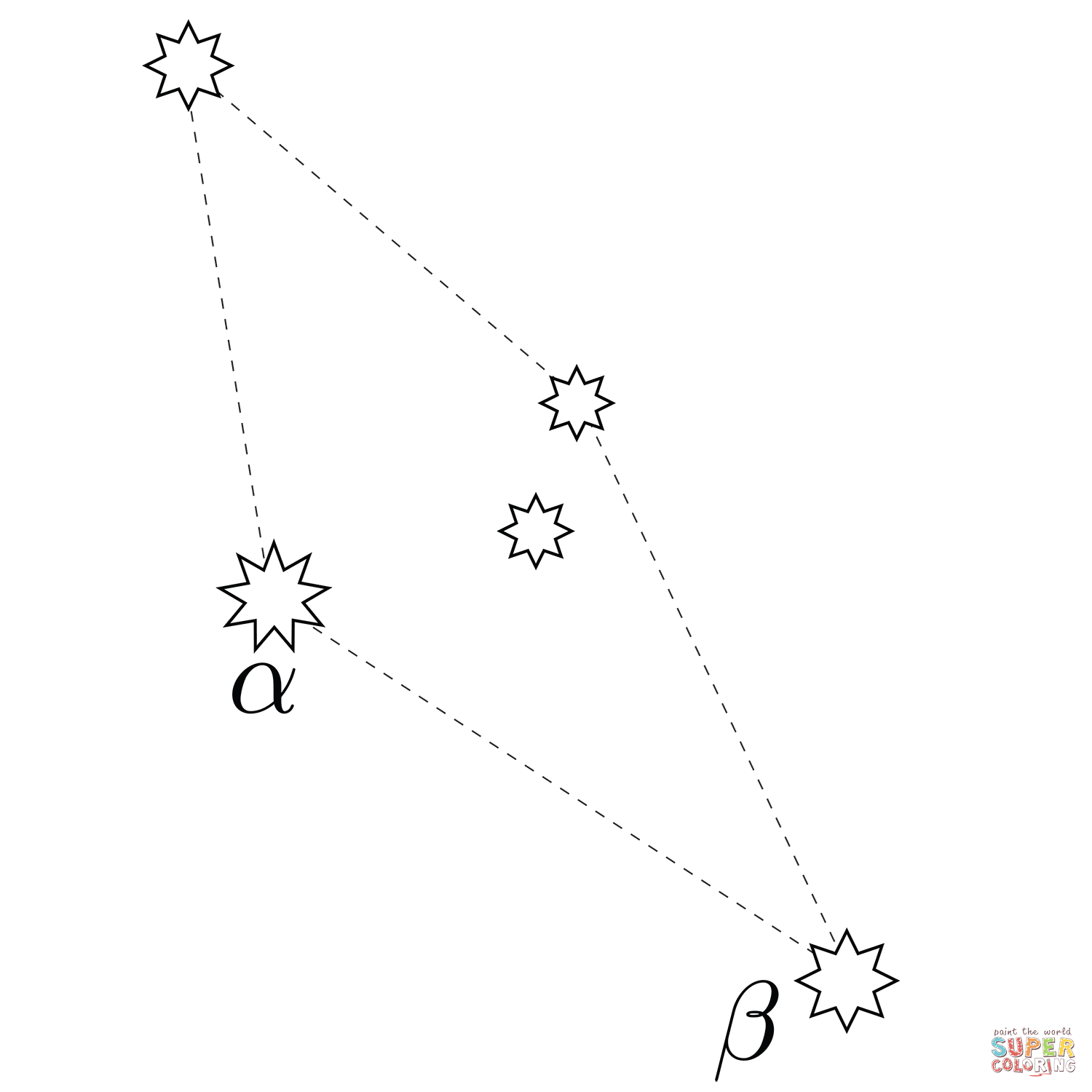 Reticulum Constellation Coloring Page