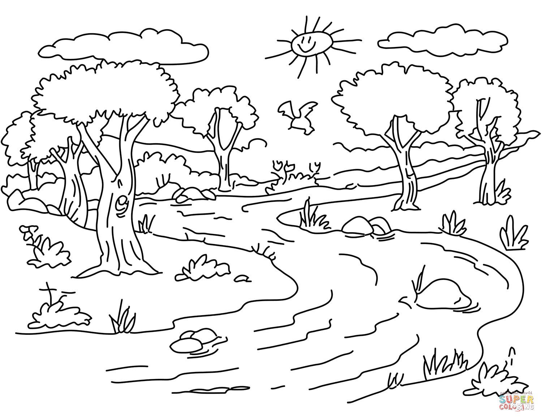 Coloring Pages Landscapes