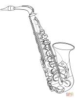 Saxophone Coloring Pages   Kidsuki