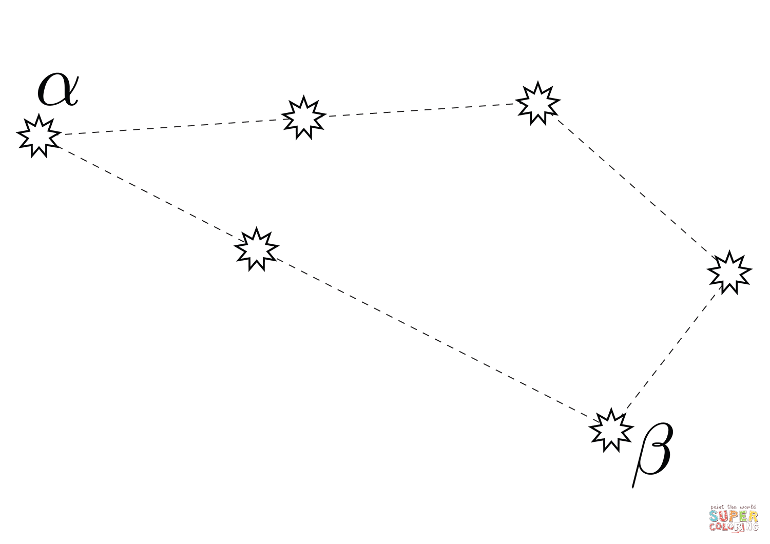 Sculptor Constellation Coloring Page