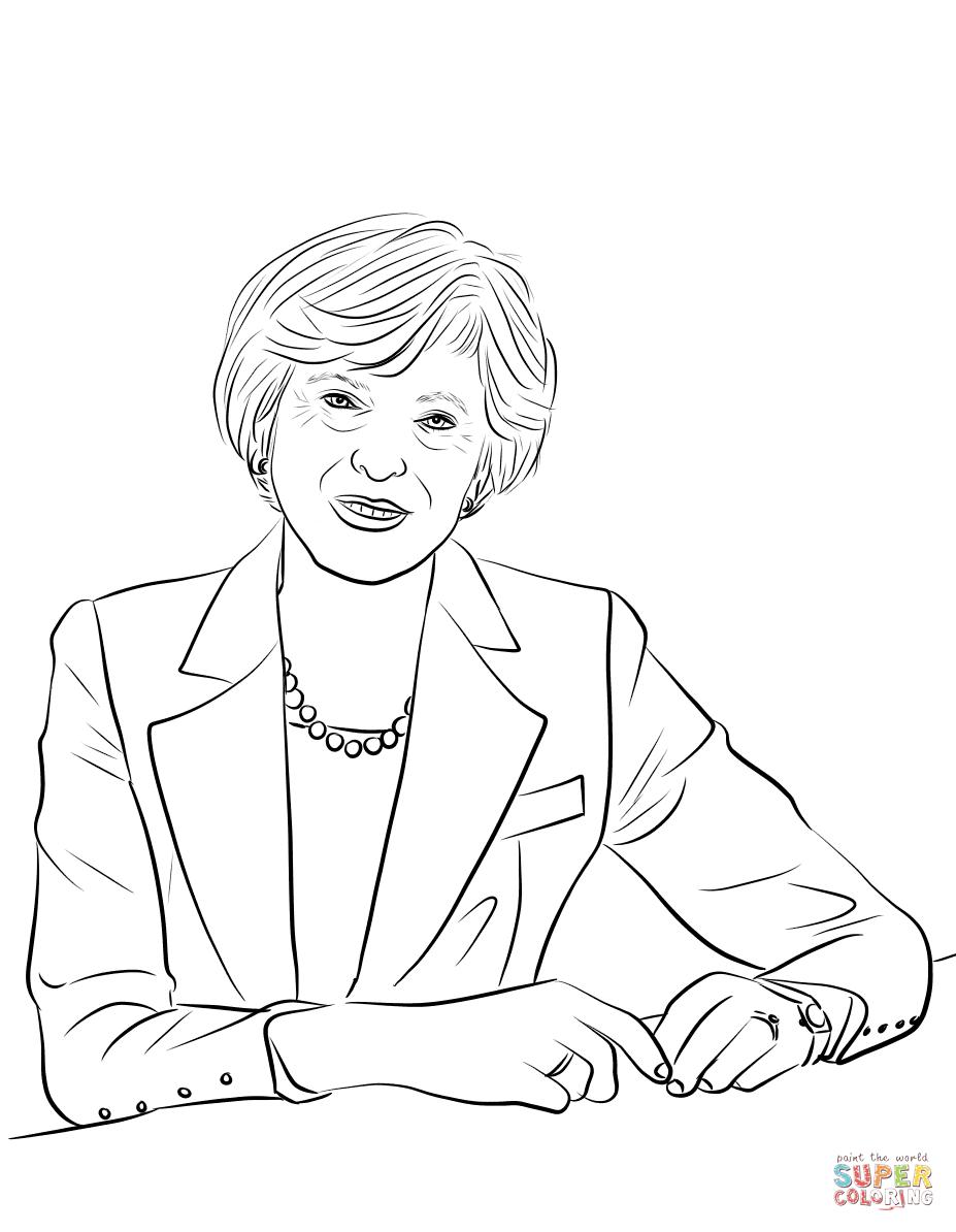 Theresa May Coloring Page Free Printable Coloring Pages