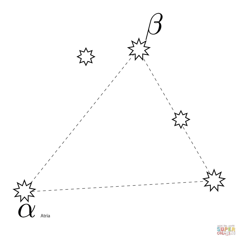 Triangulum Australe Constellation Coloring Page