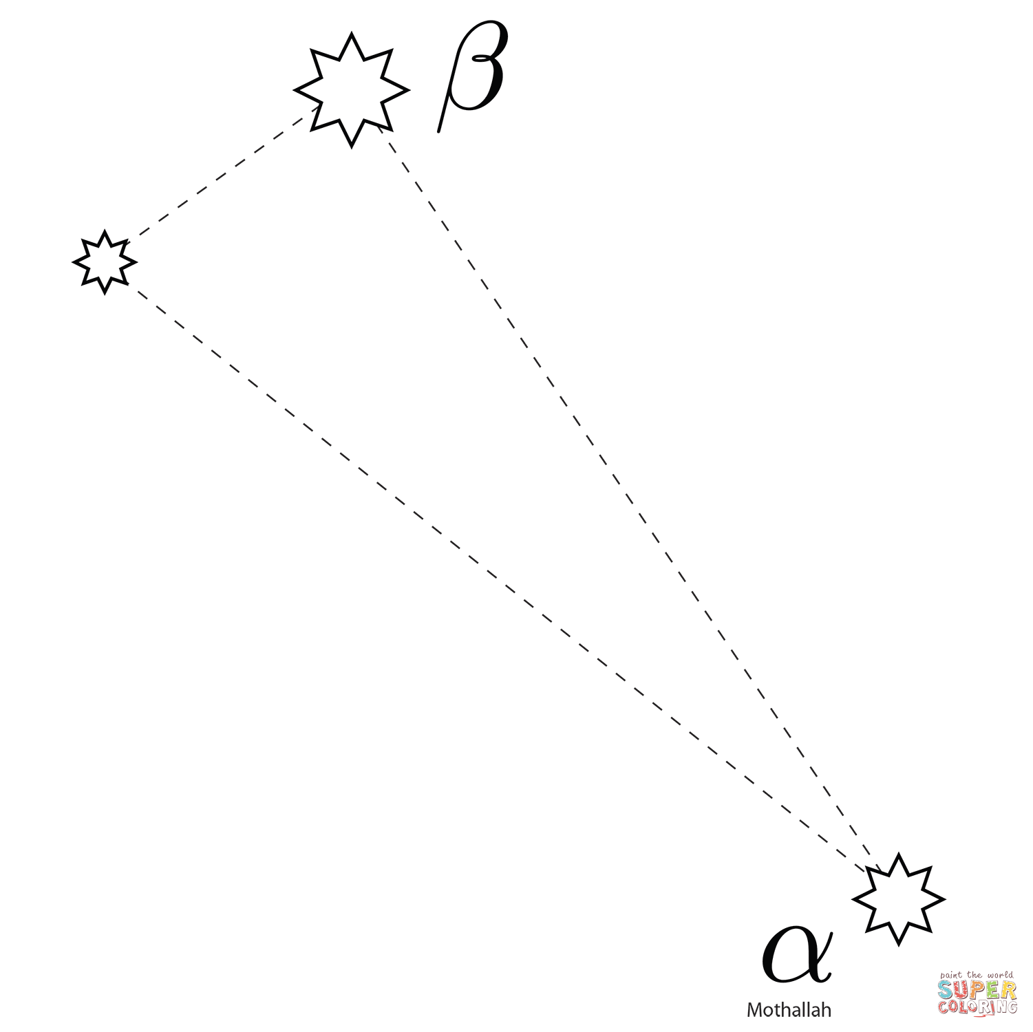 Triangulum Constellation Coloring Page