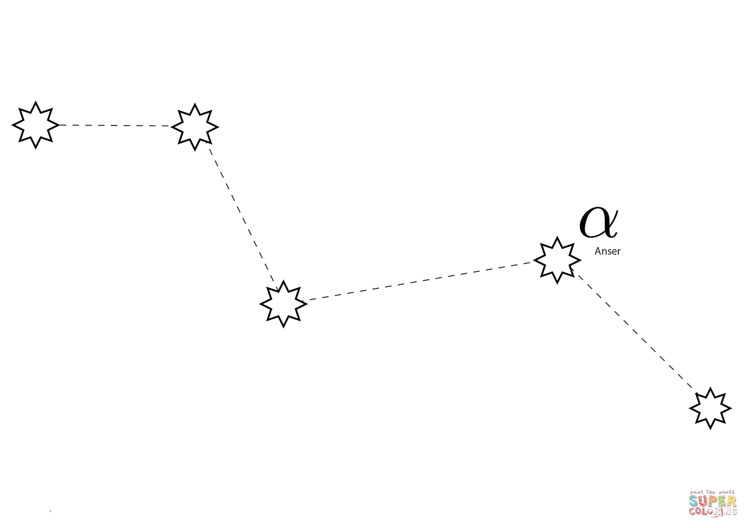 Vulpecula Constellation Coloring Page