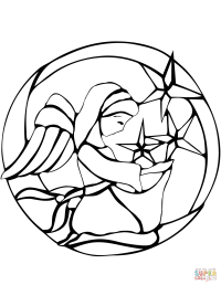 Christmas Angel Stained Glass coloring page   Free ...