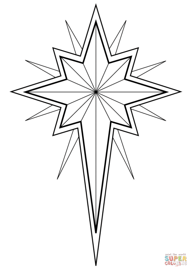 Christmas Star coloring page  Free Printable Coloring Pages