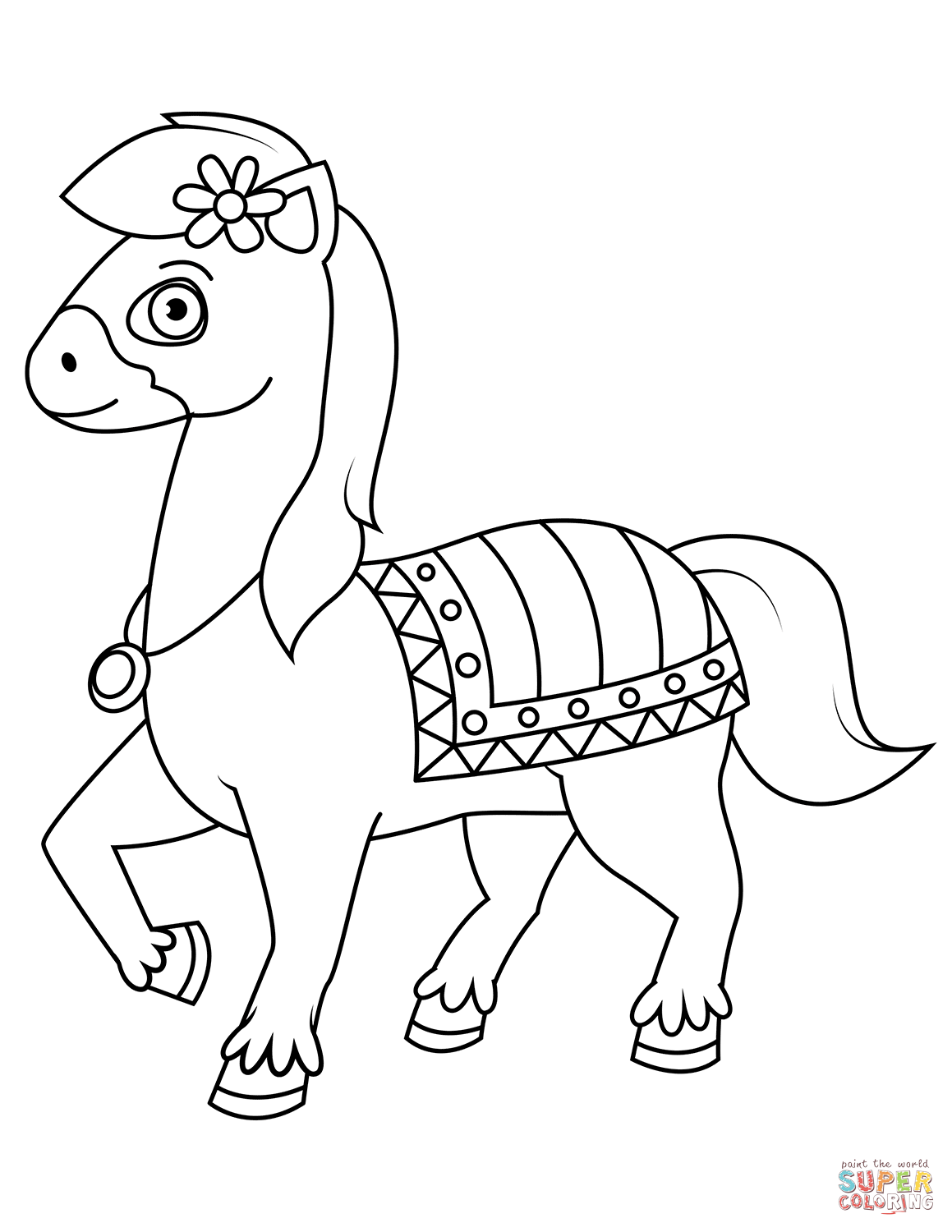 Cute Horse Coloring Pages Sketch Coloring Page