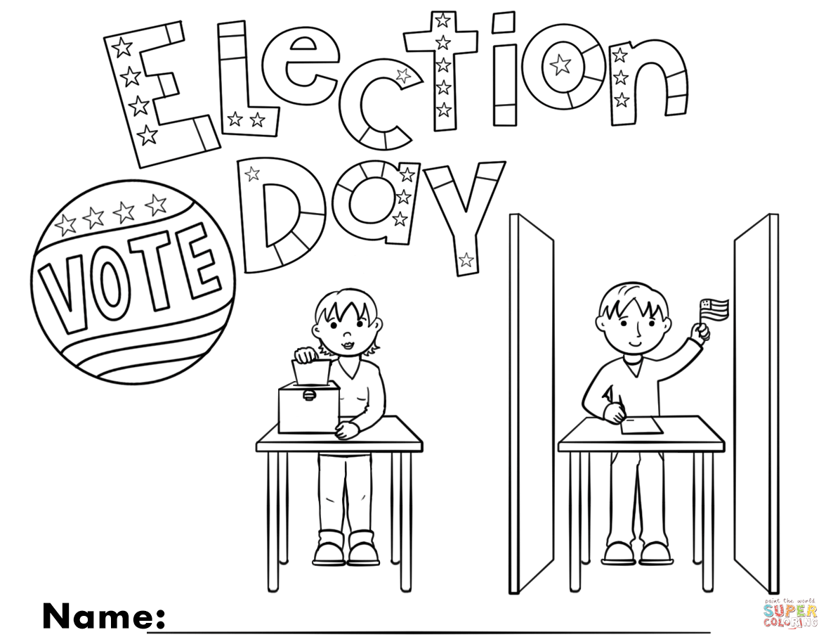 Election Day Coloring Page