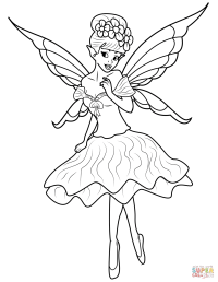 Fairy coloring page | Free Printable Coloring Pages