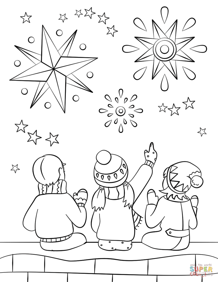 Firework Night Coloring Page Free Printable Coloring Pages