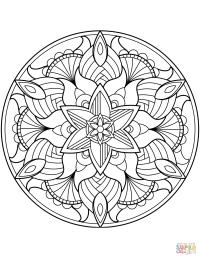 Ausmalbild: Blumen-Mandala | Ausmalbilder kostenlos zum ...