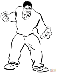 Hulk coloring page | Free Printable Coloring Pages