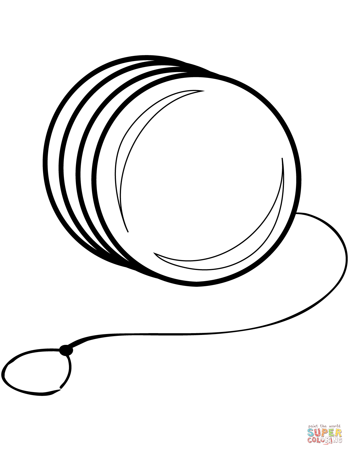 Yoyo Coloring Pages