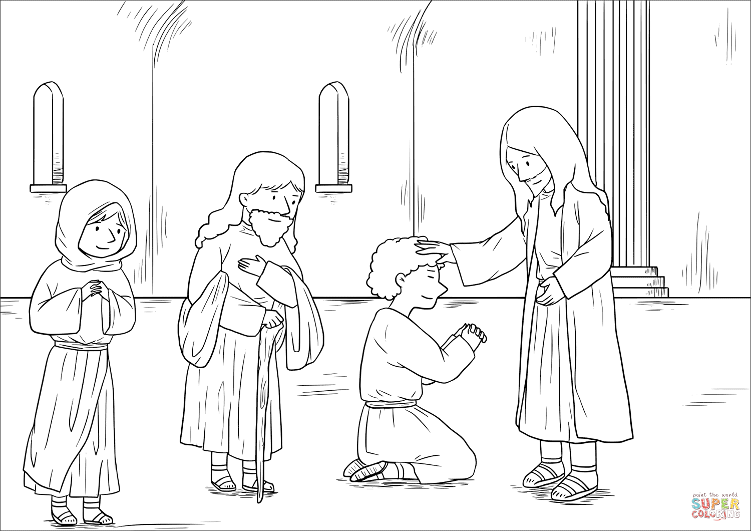 List of Bible Coloring Pages Jesus Miracles Pict - Best Pictures
