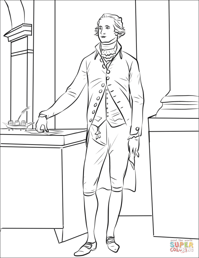 Alexander Hamilton coloring page  Free Printable Coloring Pages