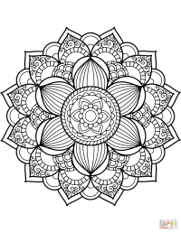 Flower Mandala coloring page | Free Printable Coloring Pages