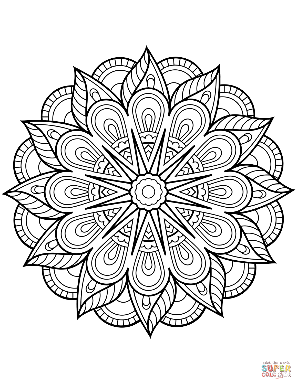Flower Mandala coloring page | Free Printable Coloring Pages | coloring sheets for adults mandala