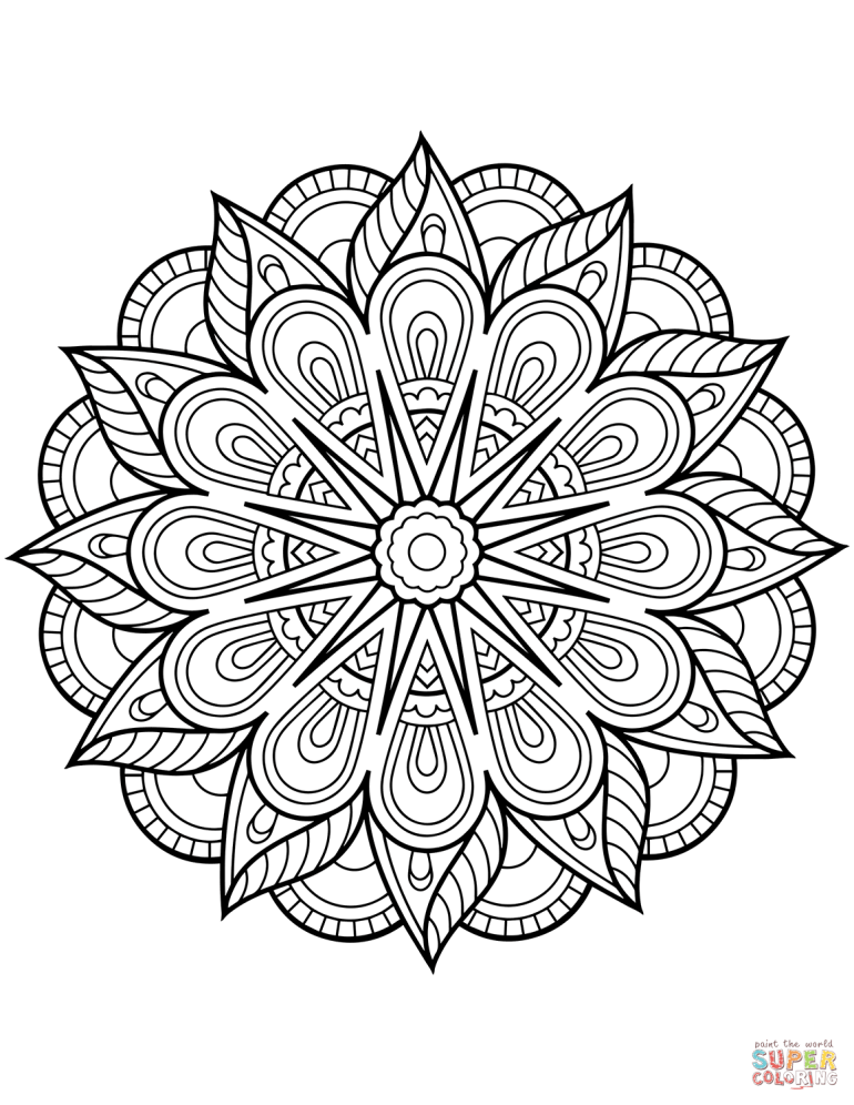 Flower Mandala coloring page | Free Printable Coloring Pages | free printable mandala coloring pages for adults