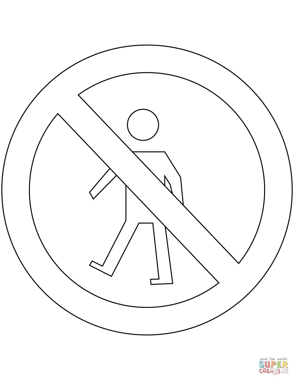 Dibujo De Senales De Transito En Argentina Prohibido
