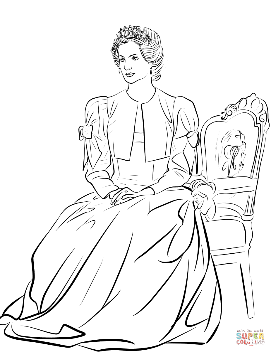 Princess Diana Coloring Page Free Printable Coloring Pages