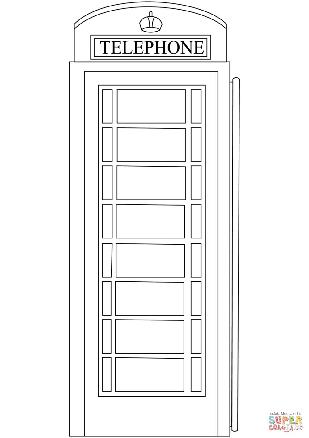 medium resolution of red telephone box coloring page free printable coloring pagesclick the red telephone box coloring pages to