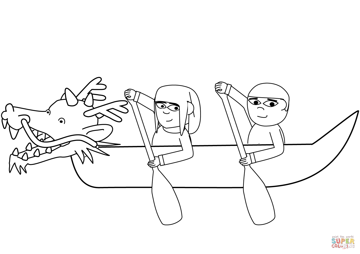 Chinese Dragon Boat Festival Coloring Page