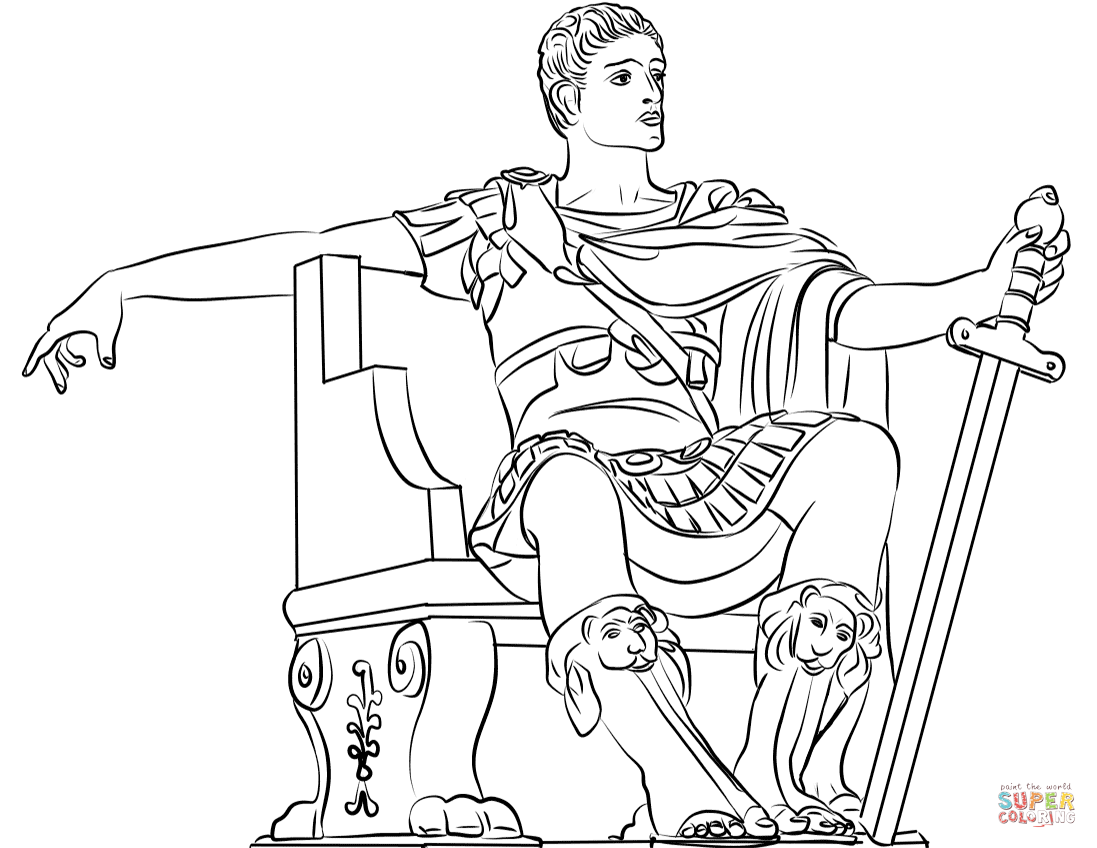 Constantine The Great Coloring Page
