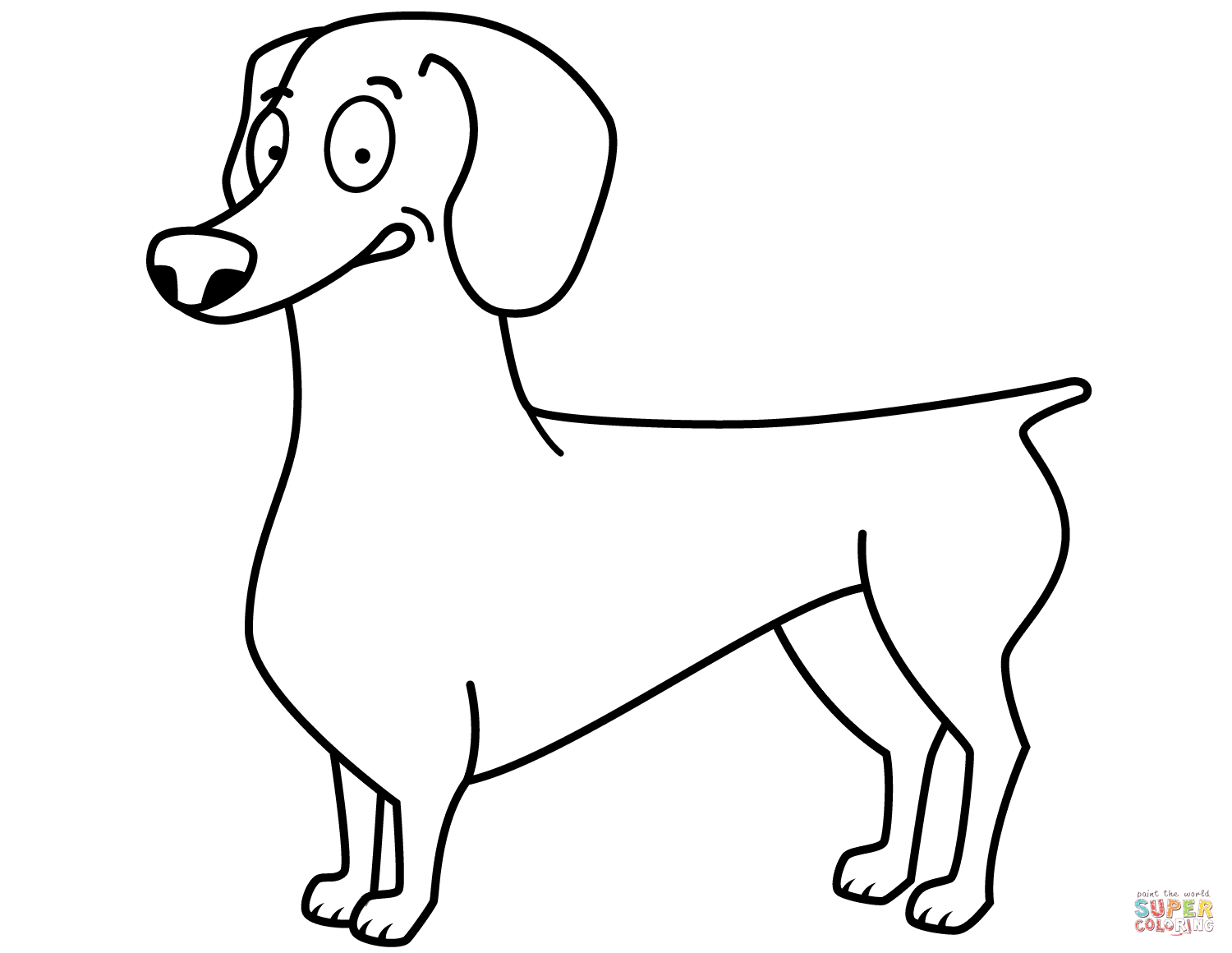 Dachshund Coloring Pages