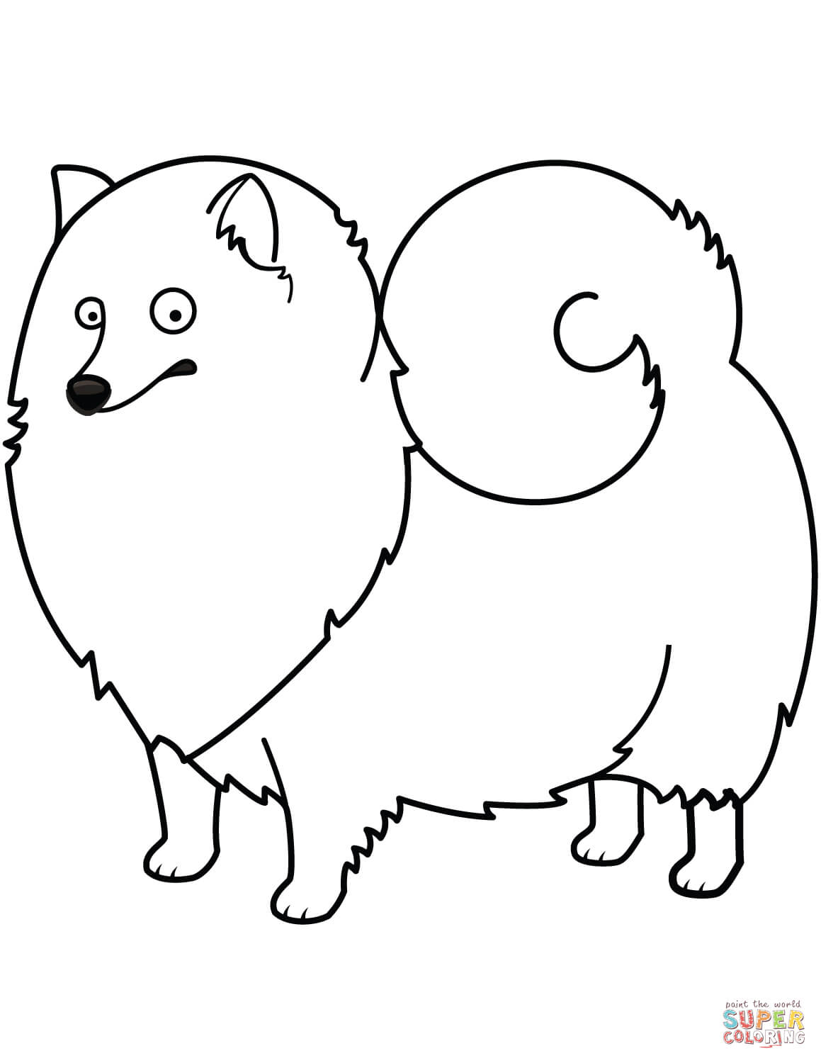 Funny Spitz Coloring Page