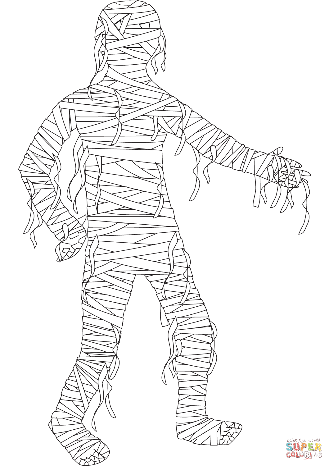 Free Online Zombie Colouring Page