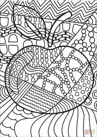 Pop Art Apple coloring page | Free Printable Coloring Pages