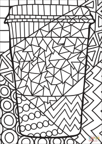 Pop Art Paper Cup coloring page | Free Printable Coloring ...