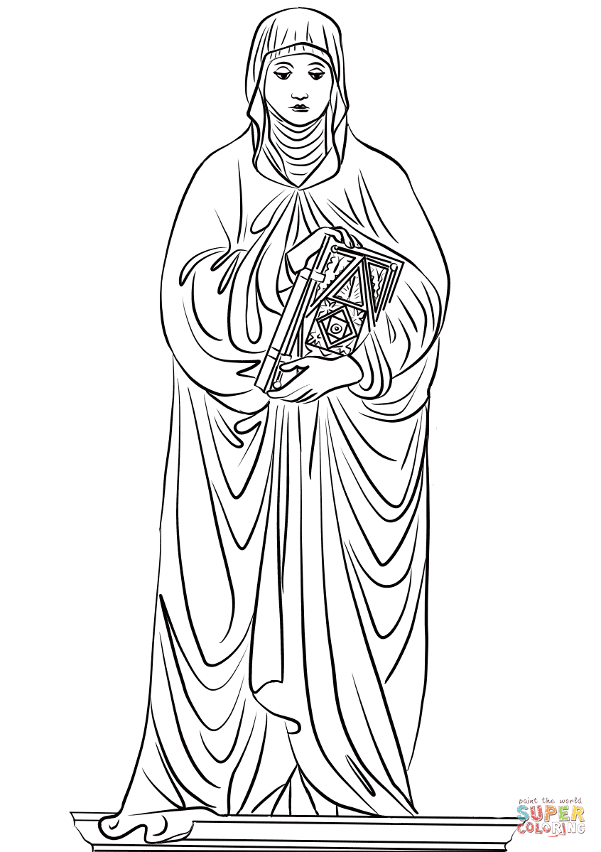 St Monica Coloring Page Free Printable Coloring Pages