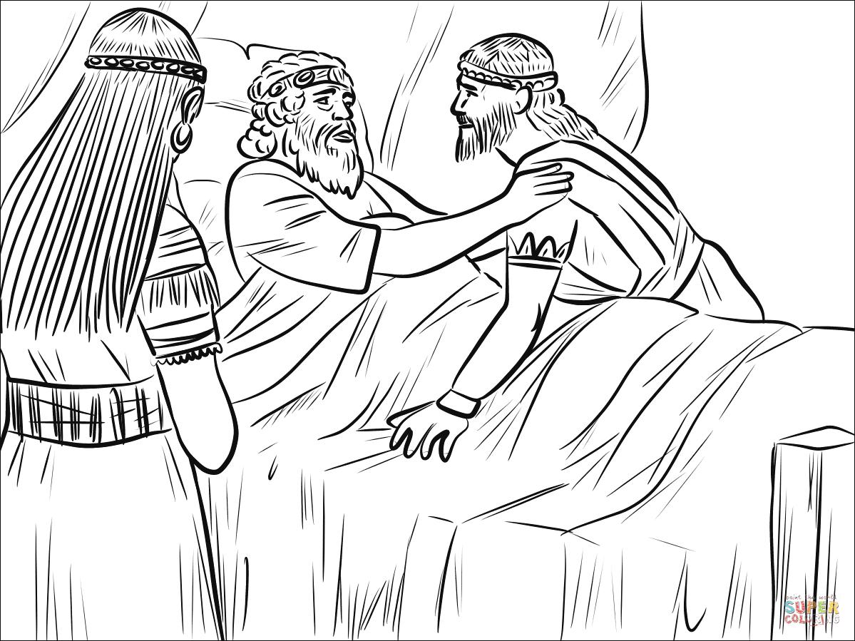 Bathsheba David And Solomon Coloring Page