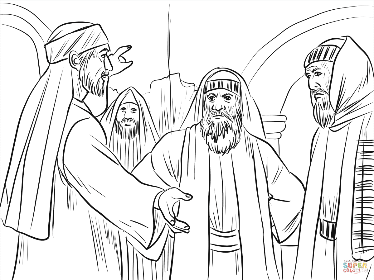 Members of Synagogue Argued with Stephen coloring page