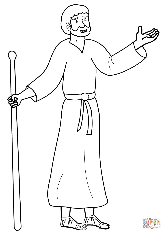 Dibujo de Pablo de Tarso de dibujos animados para colorear