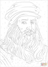 Disegno di Leonardo Da Vinci da colorare | Disegni da ...
