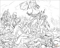 Dibujo de La Libertad guiando al pueblo para colorear ...
