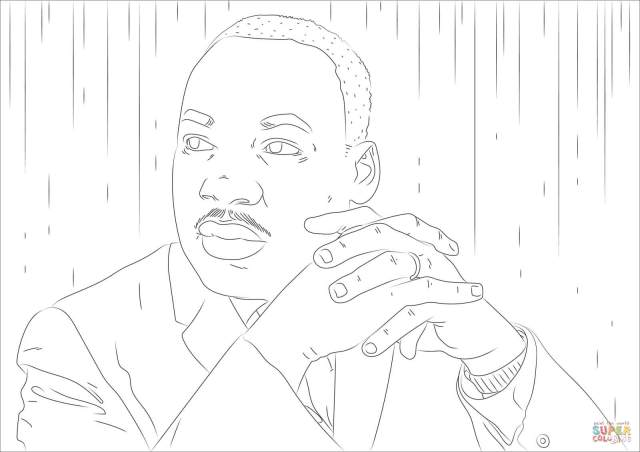 Martin Luther King Jr. coloring page  Free Printable Coloring Pages