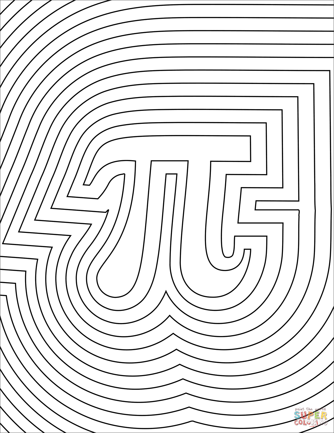 Number Pattern Coloring Page